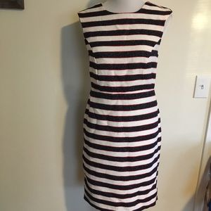 Banana Republic NWOT Boucle Stripe Sheath Dress 6P